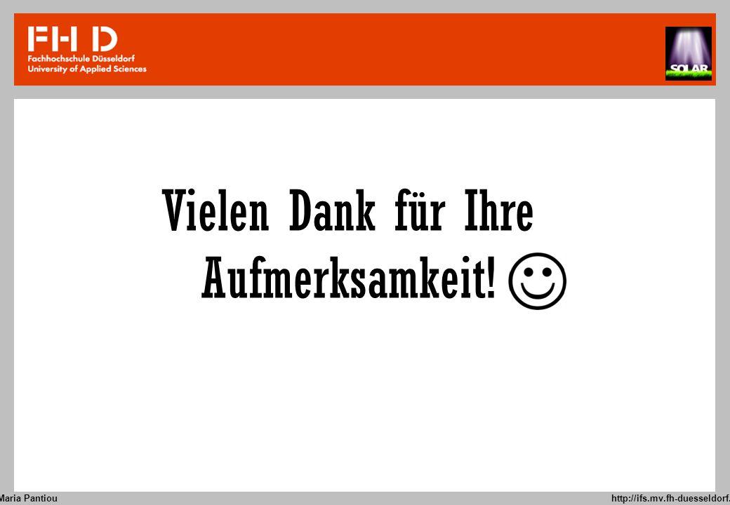 Maria Pantiou http://ifs.mv.fh-duesseldorf.de 9 Vielen Dank für Ihre Aufmerksamkeit!