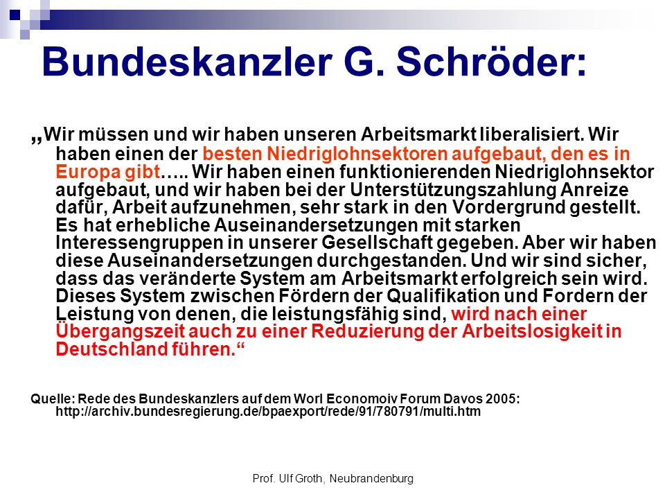 Prof.Ulf Groth, Neubrandenburg EU – Standard Datenquellen 1.