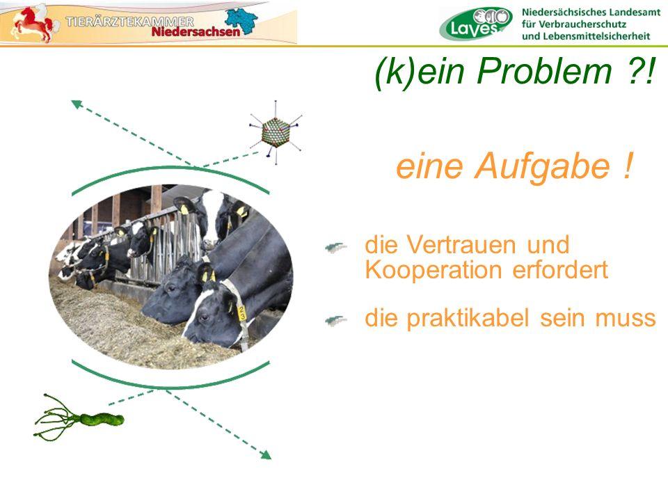 die Vertrauen und Kooperation erfordert die praktikabel sein muss (k)ein Problem ?! eine Aufgabe !
