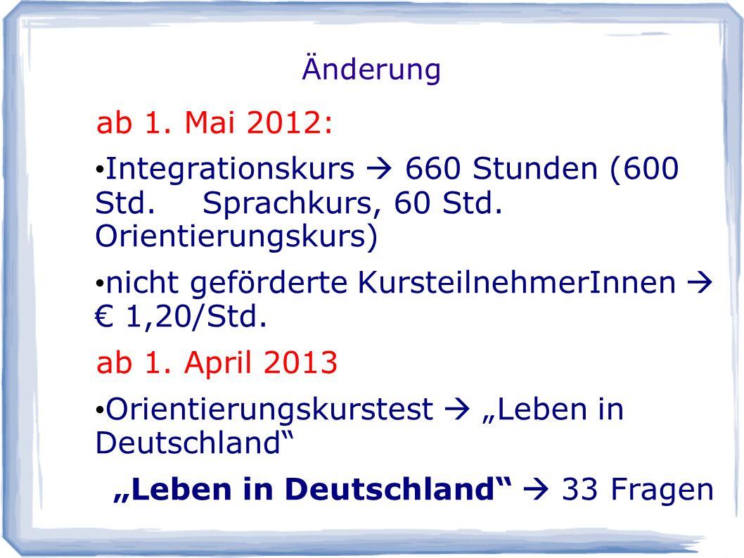 Abgeschlossene Integrationskurse in der Hansestadt Rostock 2012 Quelle: Hansestadt Rostock, Arbeitsstelle Integrationsförderung, Rosmarie Pieper, 2013 Integrationskurs Gesamt: 17 Kurse