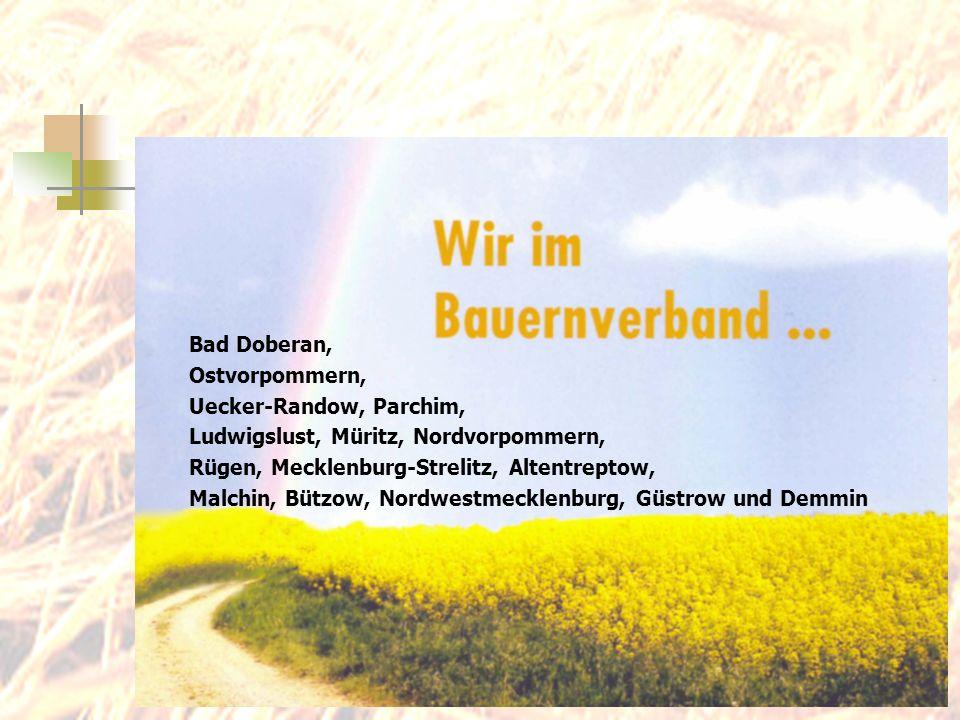 Bad Doberan, Ostvorpommern, Uecker-Randow, Parchim, Ludwigslust, Müritz, Nordvorpommern, Rügen, Mecklenburg-Strelitz, Altentreptow, Malchin, Bützow, N