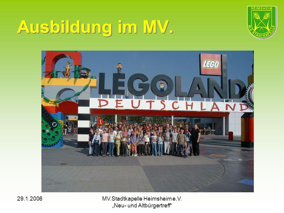 29.1.2006MV.Stadtkapelle Heimsheim e.V. Neu- und Altbürgertreff Ausbildung im MV.