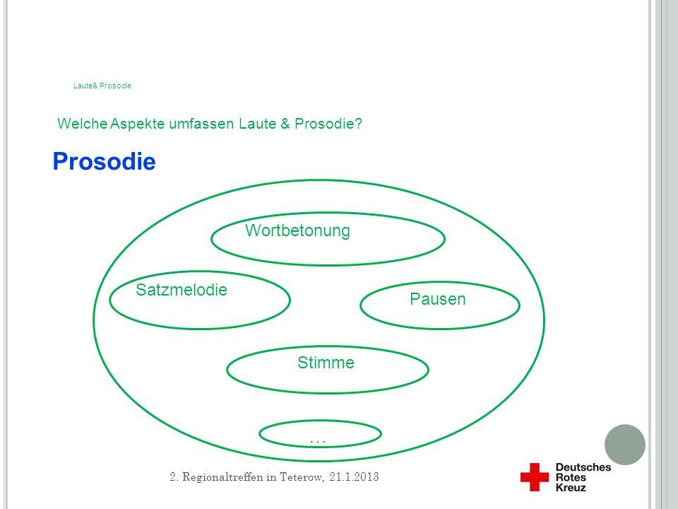 Welche Aspekte umfassen Laute & Prosodie.