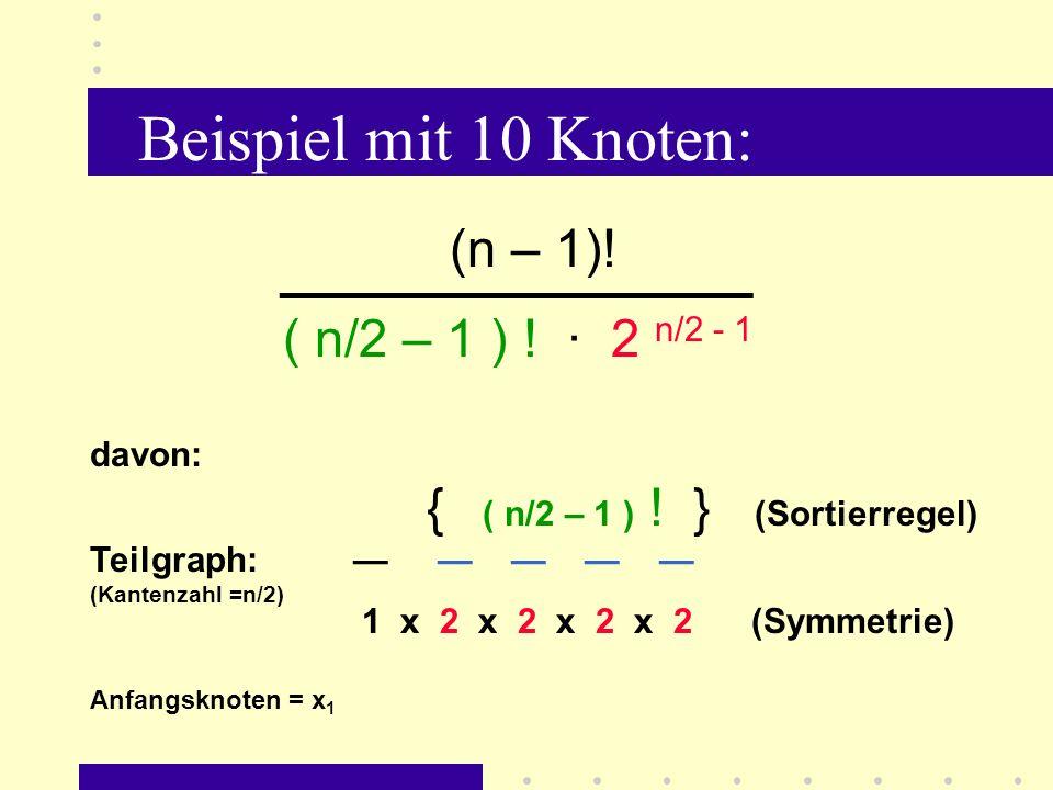 Beispiel mit 10 Knoten: