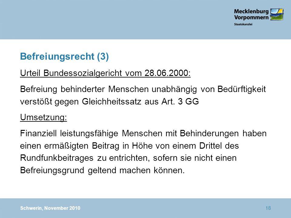 Befreiungsrecht (3) Urteil Bundessozialgericht vom 28.06.2000: Befreiung behinderter Menschen unabhängig von Bedürftigkeit verstößt gegen Gleichheitss