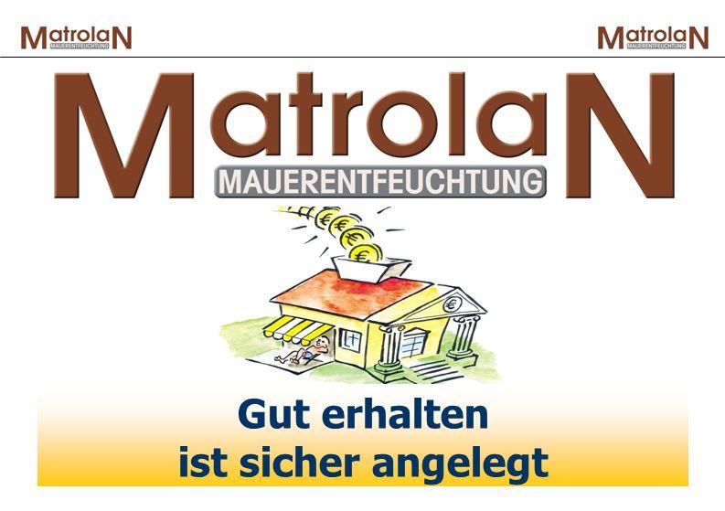 Es ist vollbracht: Die Entfeuchtung und Entsalzung ist erfolgreich verlaufen: In dieser Phase bleibt das MatrolaN- Verfahren um das Haus herum aktiv, um es auch in Zukunft vor der Feuchtigkeit und den Salzen zu schützen.