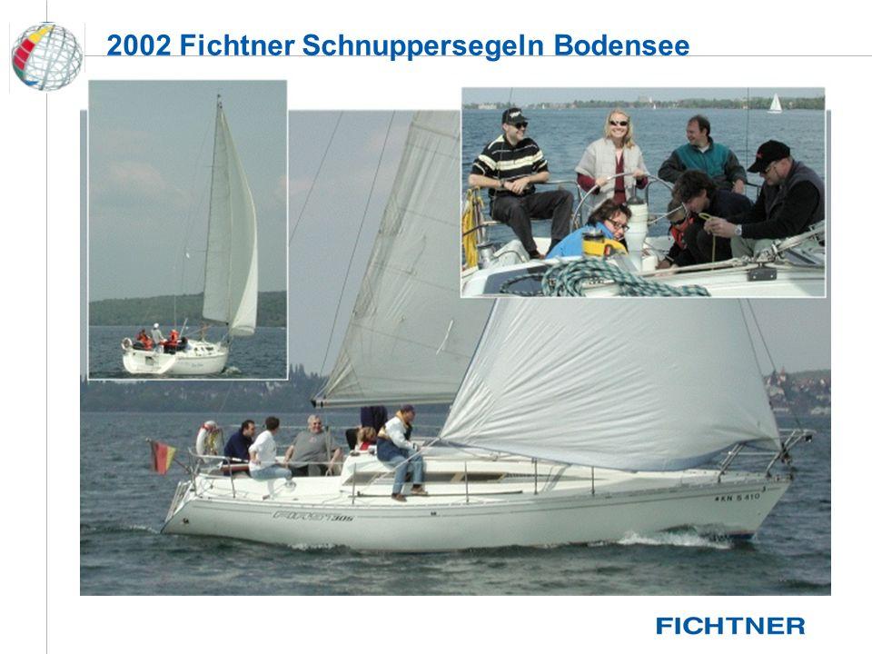 Die (Vor-) Geschichte 08.03.1982 Segelsport Gruppe wird gegründet 1983 Segelsportgemeinschaft Fichtner e.V.