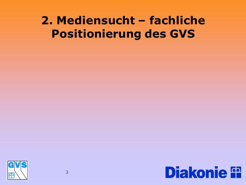 3 2. Mediensucht – fachliche Positionierung des GVS