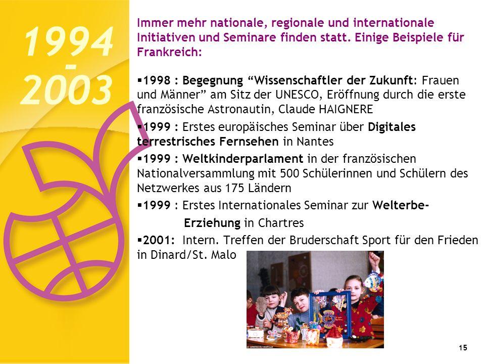 Immer mehr nationale, regionale und internationale Initiativen und Seminare finden statt.