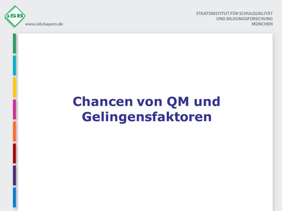 Chancen von QM und Gelingensfaktoren