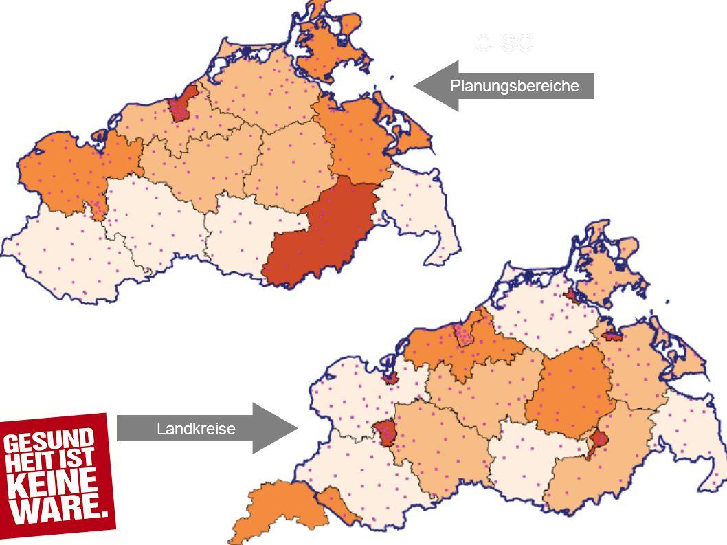 Landkreise Planungsbereiche