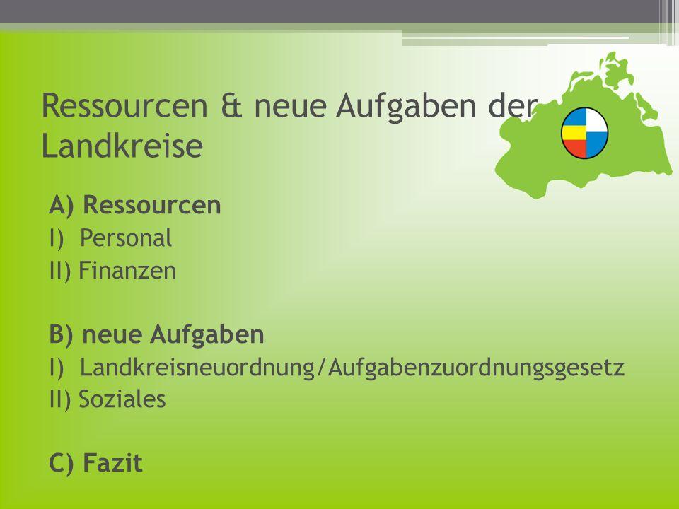 B) Neue Aufgaben I)-Landkreisneuordnung 1)Neue Aufgaben, u.