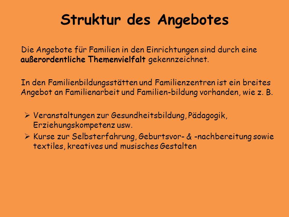 weiterhin wurden bisher 9 Projekte in Familienzentren und Familienbegegnungs- stätten mit insgesamt 59.620 Euro gefördert weitere Finanzierung erfolgt