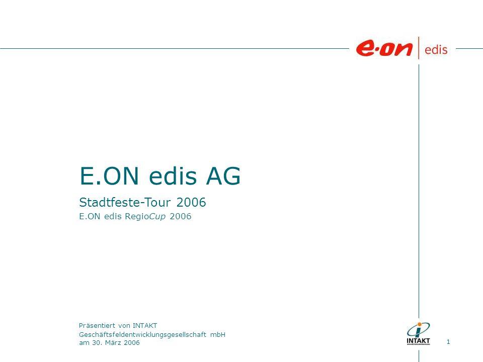 1 E.ON edis AG Präsentiert von INTAKT Geschäftsfeldentwicklungsgesellschaft mbH am 30.
