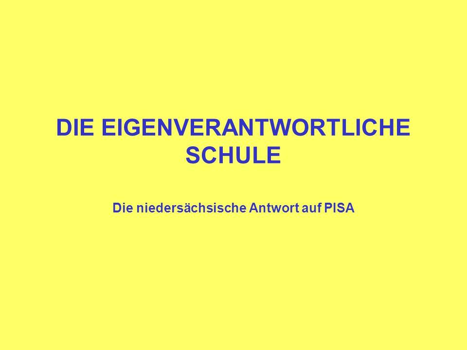 DIE EIGENVERANTWORTLICHE SCHULE Die niedersächsische Antwort auf PISA