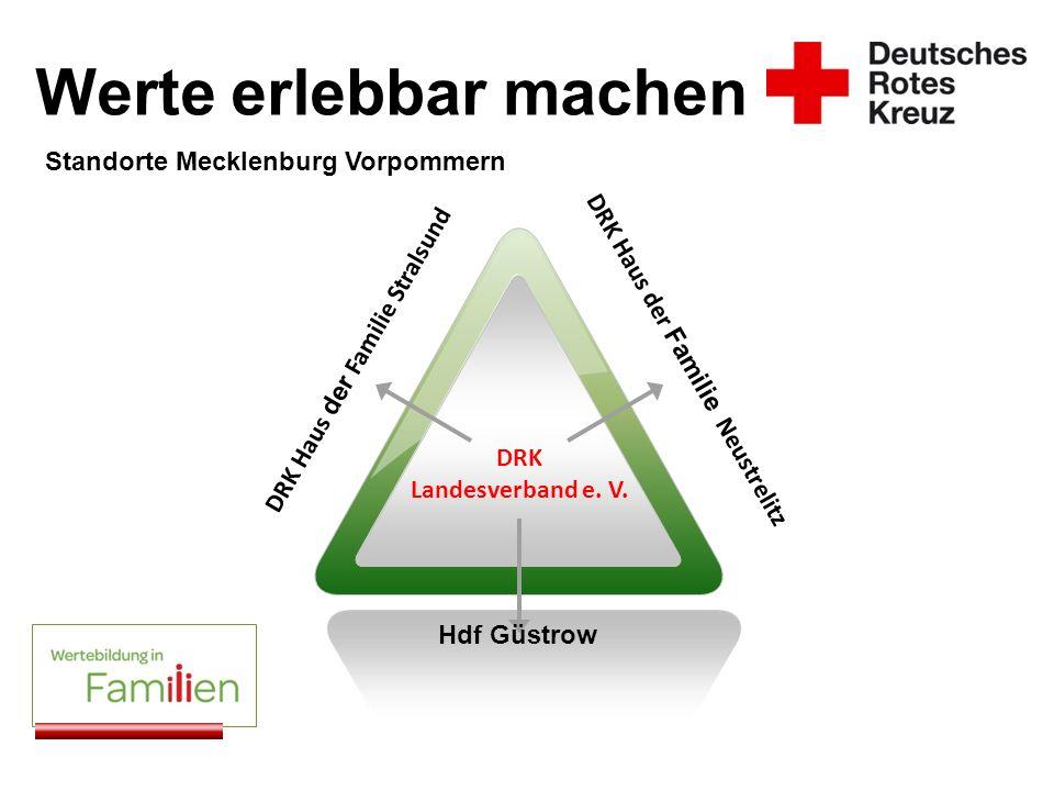 Werte erlebbar machen DRK Haus der Familie Stralsund DRK Haus der Familie Neustrelitz Hdf Güstrow SCENE Standorte Mecklenburg Vorpommern DRK Landesver