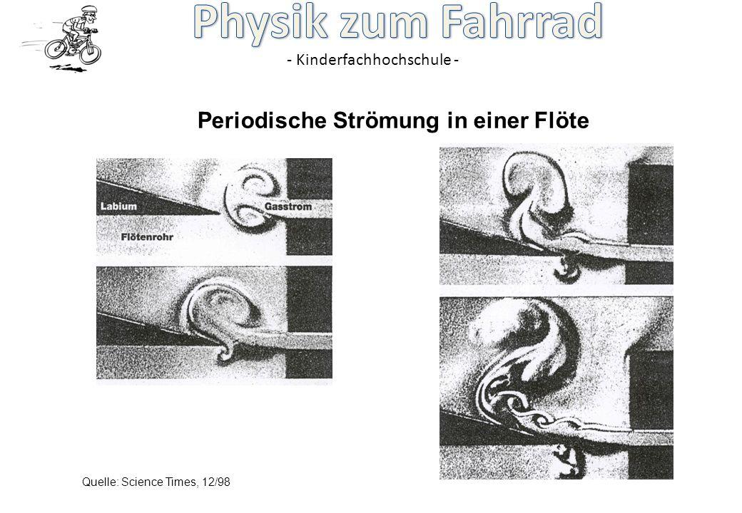 - Kinderfachhochschule - Periodische Strömung in einer Flöte Quelle: Science Times, 12/98