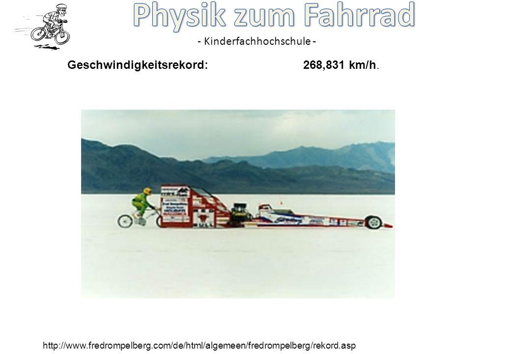 - Kinderfachhochschule - http://www.fredrompelberg.com/de/html/algemeen/fredrompelberg/rekord.asp Geschwindigkeitsrekord:268,831 km/h.