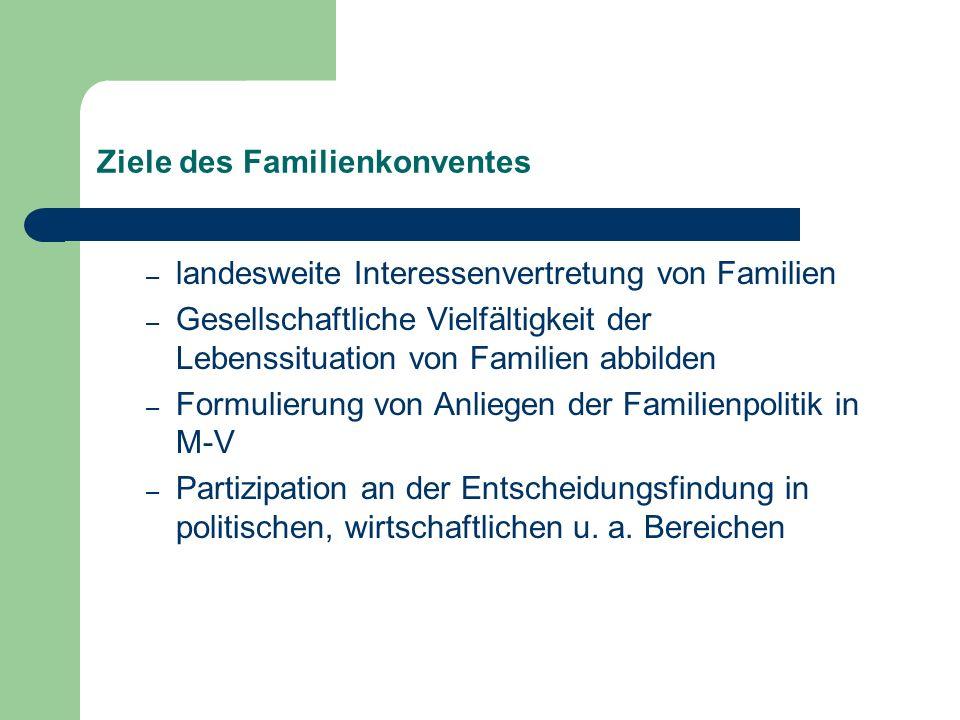 Ziele des Familienkonventes – landesweite Interessenvertretung von Familien – Gesellschaftliche Vielfältigkeit der Lebenssituation von Familien abbild