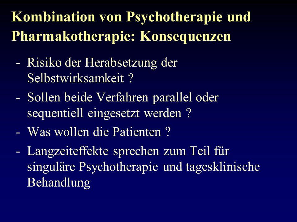Intervallbehandlungsansätze (sequentielle Psychotherapie) -erlauben eine bessere Planung und sequentielle Zielbestimmung (Rückfallkontrolle) -rekrutieren Patienten im symptomarmen Intervall -ermöglichen Probehandeln und die Akkumulation von Material im therapiefreien Intervall -ermöglichen Veränderungen relativ zeitstabiler Merkmale