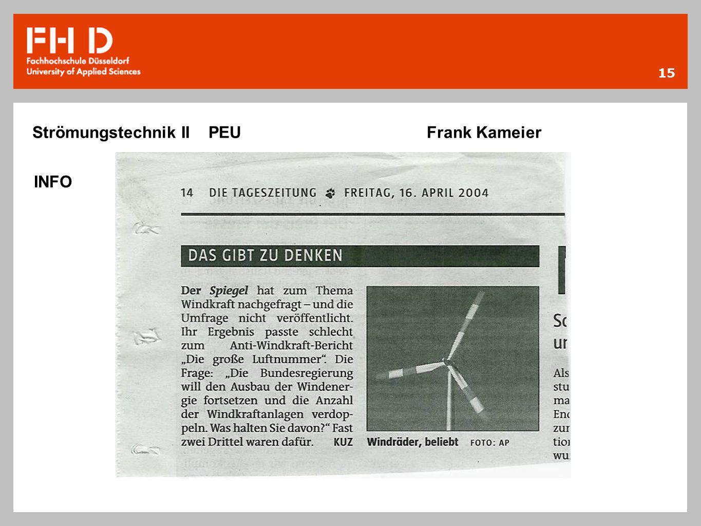 15 Strömungstechnik II PEU Frank Kameier INFO
