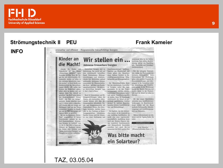 9 Strömungstechnik II PEU Frank Kameier INFO