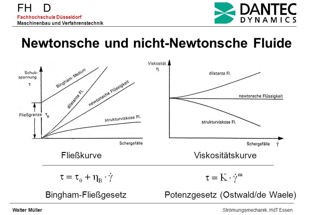 FH D Fachhochschule Düsseldorf Maschinenbau und Verfahrenstechnik Newtonsche und nicht-Newtonsche Fluide FließkurveViskositätskurve Bingham-Fließgeset
