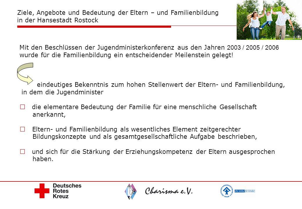 Mit den Beschlüssen der Jugendministerkonferenz aus den Jahren 2003 / 2005 / 2006 wurde für die Familienbildung ein entscheidender Meilenstein gelegt!