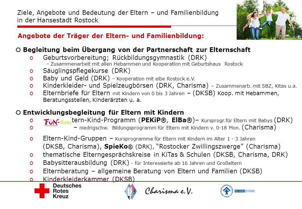 Begleitung beim Übergang von der Partnerschaft zur Elternschaft oGeburtsvorbereitung; Rückbildungsgymnastik (DRK) – Zusammenarbeit mit allen Hebammen