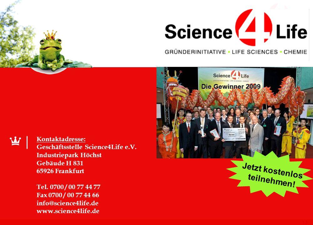 12 Eine erfolgreiche Bilanz Science4Life Venture Cup in Zahlen (seit 1998) 2800 Teilnehmer 873 Geschäftsideen. 510 Businesspläne 340 Unternehmensgründ
