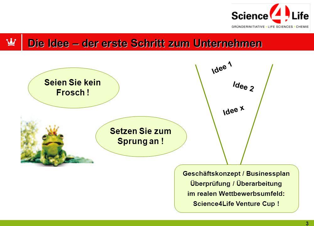 13 Kontaktadresse: Geschäftsstelle Science4Life e.V.