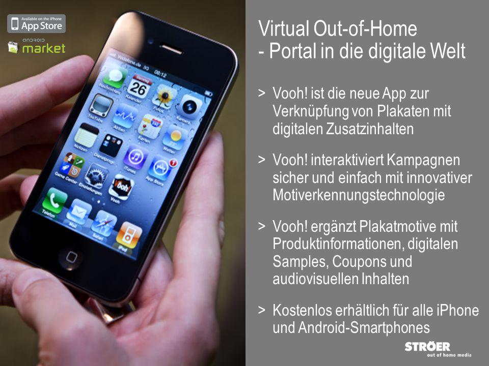 >Vooh! ist die neue App zur Verknüpfung von Plakaten mit digitalen Zusatzinhalten >Vooh! interaktiviert Kampagnen sicher und einfach mit innovativer M
