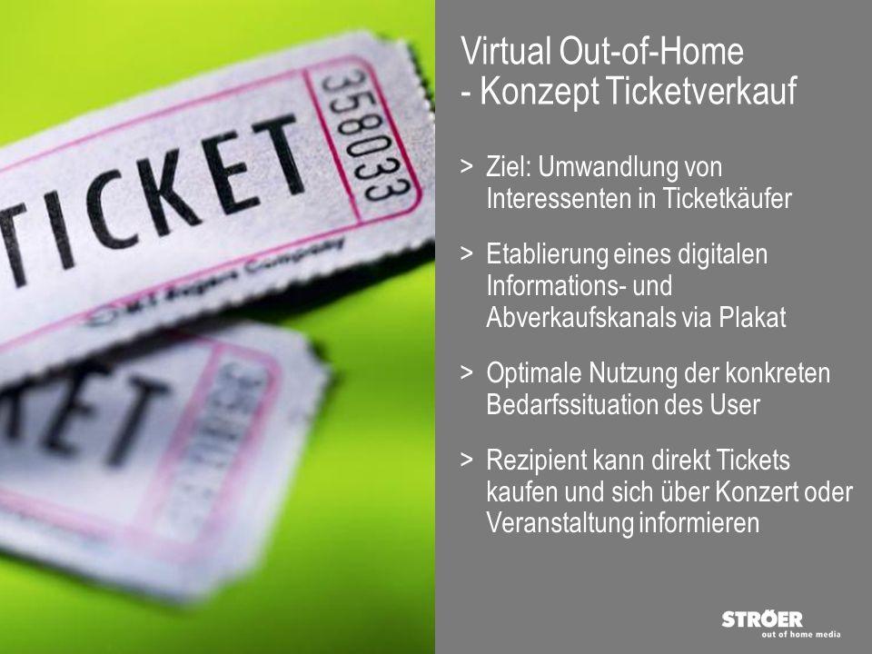>Ziel: Umwandlung von Interessenten in Ticketkäufer >Etablierung eines digitalen Informations- und Abverkaufskanals via Plakat >Optimale Nutzung der k
