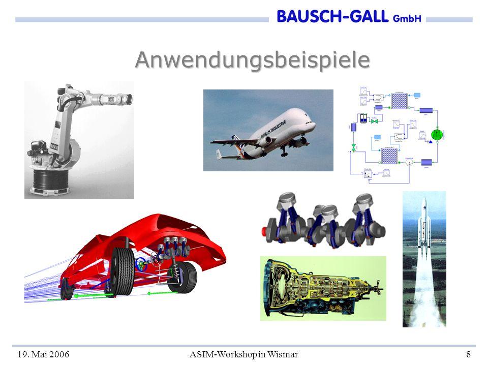 19. Mai 2006ASIM-Workshop in Wismar8 Anwendungsbeispiele