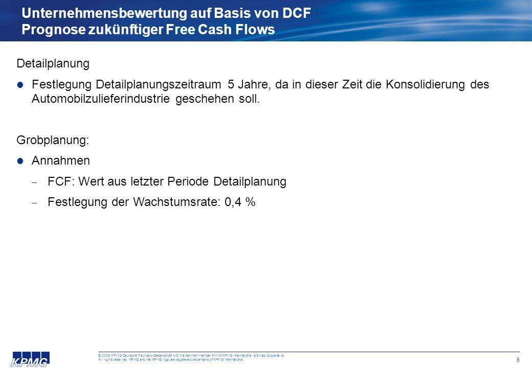 5 © 2005 KPMG Deutsche Treuhand-Gesellschaft AG, the German member firm of KPMG International, a Swiss cooperative. All rights reserved. KPMG and the