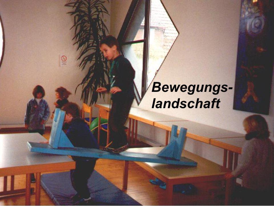 An zwei Vormittagen steht uns der katholische Gemeindesaal zusätzlich als Bewegungsraum zur Verfügung.