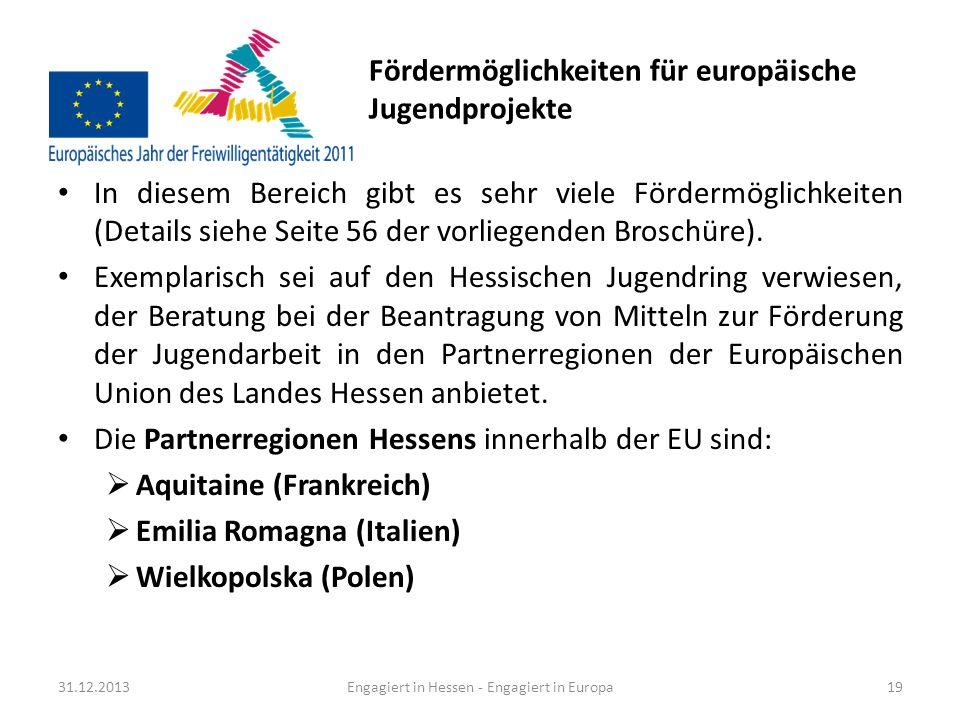 Vorstellung von Projektbeispielen aus Hessen (1/3) Die in der vorliegenden Praxisbroschüre dargestellten Bei- spiele stellen europäisches bürgerschaftliches Engagement vor, dass über eine kulturelle oder sportliche Begegnung hi- nausgeht.