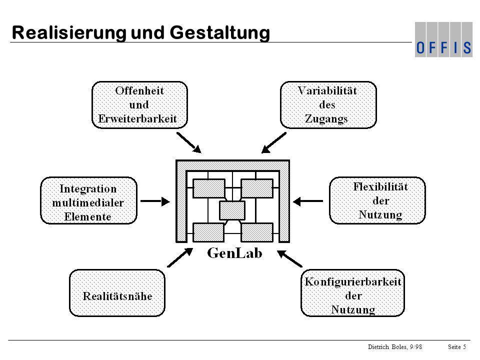 Dietrich Boles, 9/98Seite 5 Realisierung und Gestaltung