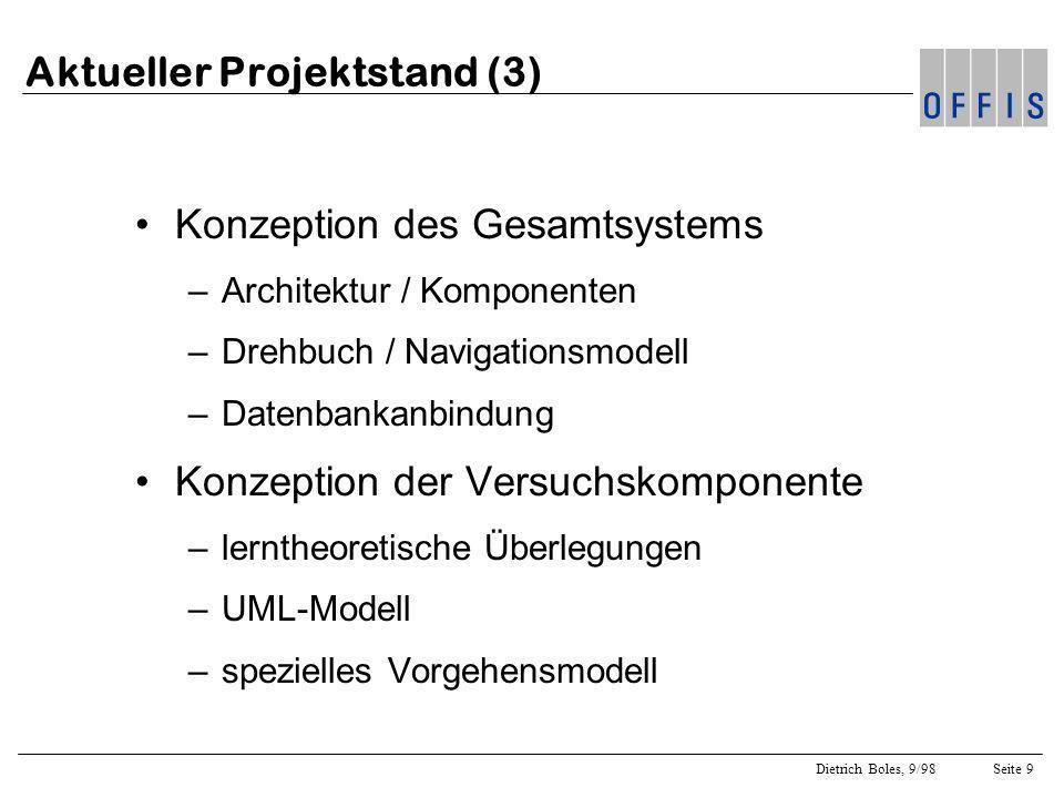 Dietrich Boles, 9/98Seite 10 Architektur des GenLab-Systems