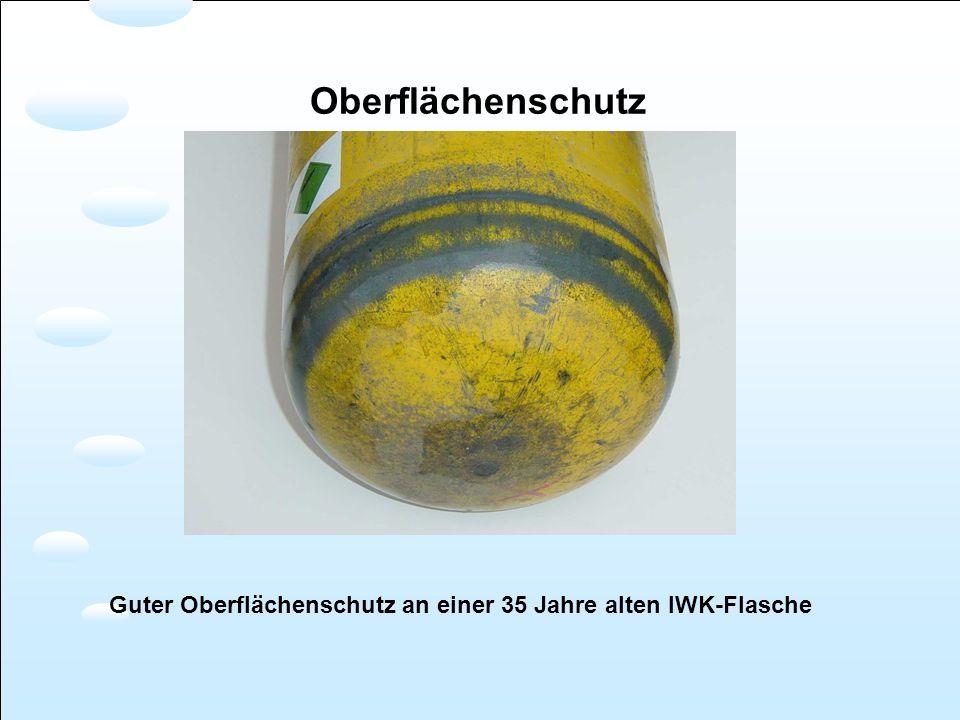 Oberflächenschutz Guter Oberflächenschutz an einer 35 Jahre alten IWK-Flasche