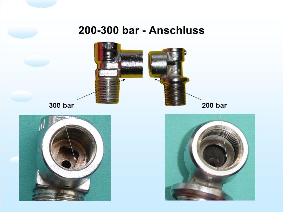 300 bar200 bar 200-300 bar - Anschluss