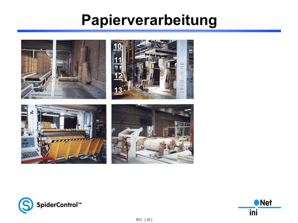 EIN [ 36 ] Papierverarbeitung