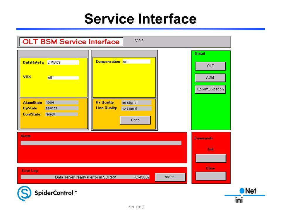 EIN [ 41 ] Service Interface