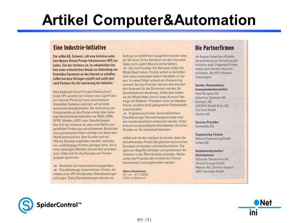 EIN [ 5 ] Artikel Computer&Automation