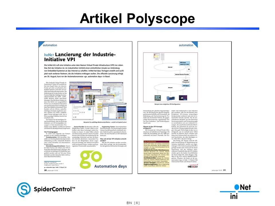 EIN [ 6 ] Artikel Polyscope
