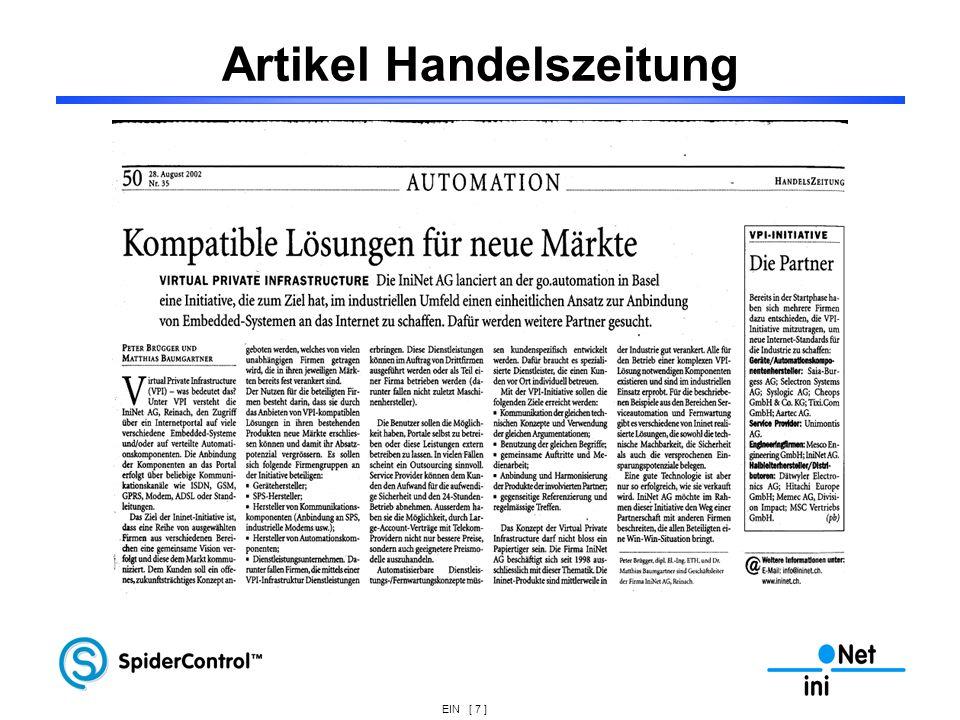EIN [ 7 ] Artikel Handelszeitung