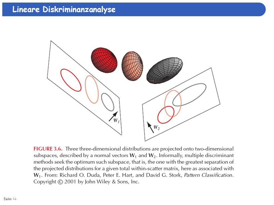 Seite 1411/3/2013| Lineare Diskriminanzanalyse
