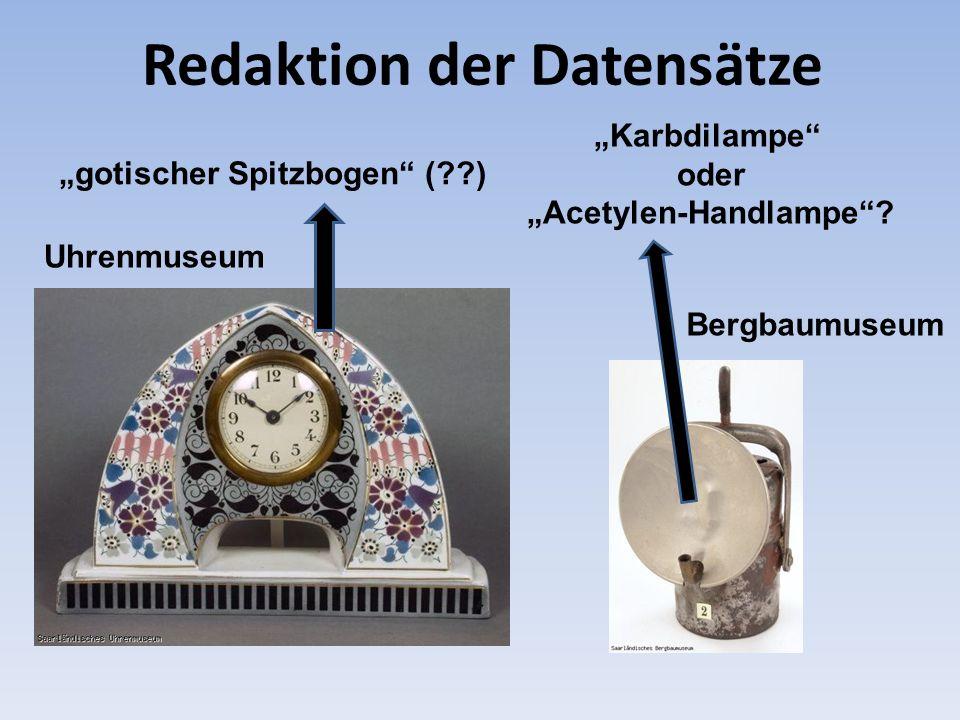 gotischer Spitzbogen (??) Redaktion der Datensätze Karbdilampe oder Acetylen-Handlampe? Uhrenmuseum Bergbaumuseum
