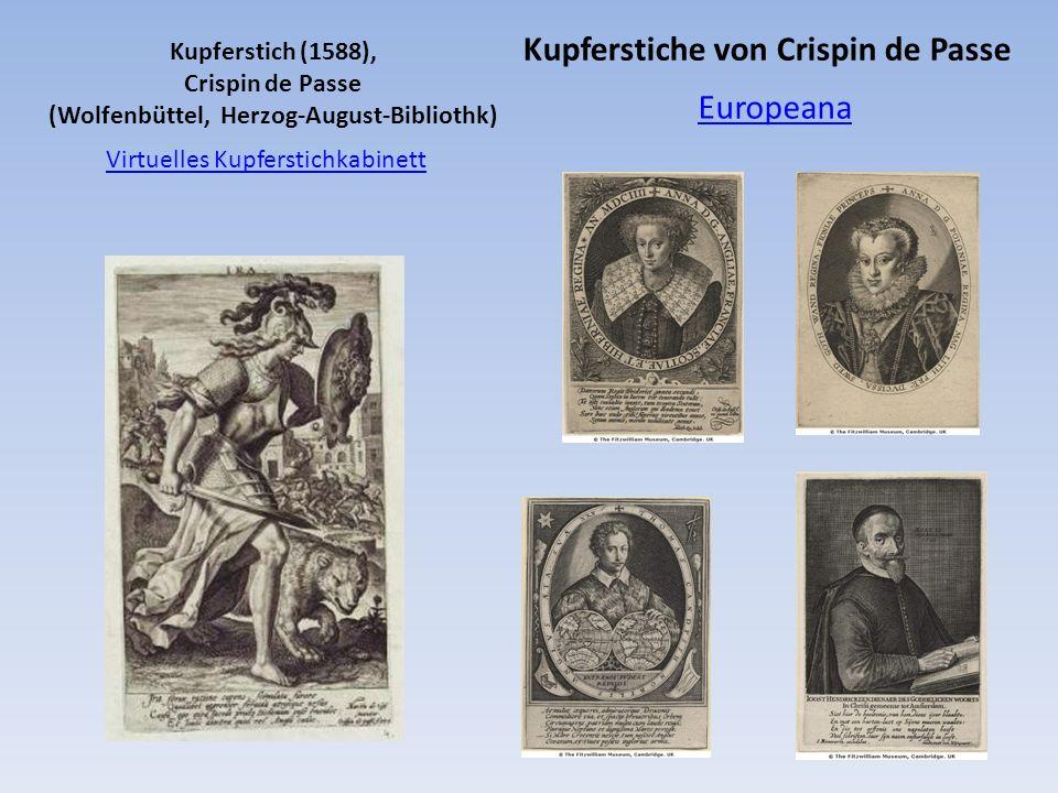 Virtuelles Kupferstichkabinett Kupferstich (1588), Crispin de Passe (Wolfenbüttel, Herzog-August-Bibliothk) Europeana Kupferstiche von Crispin de Pass