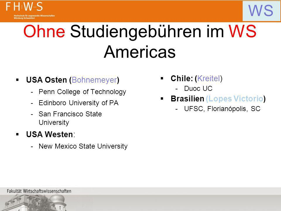 Ohne Studiengebühren im WS Americas USA Osten (Bohnemeyer) -Penn College of Technology -Edinboro University of PA -San Francisco State University USA